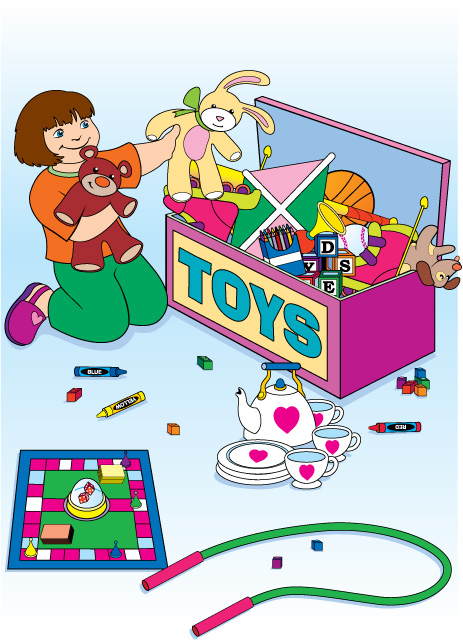 Pick Up Toys Clipart.