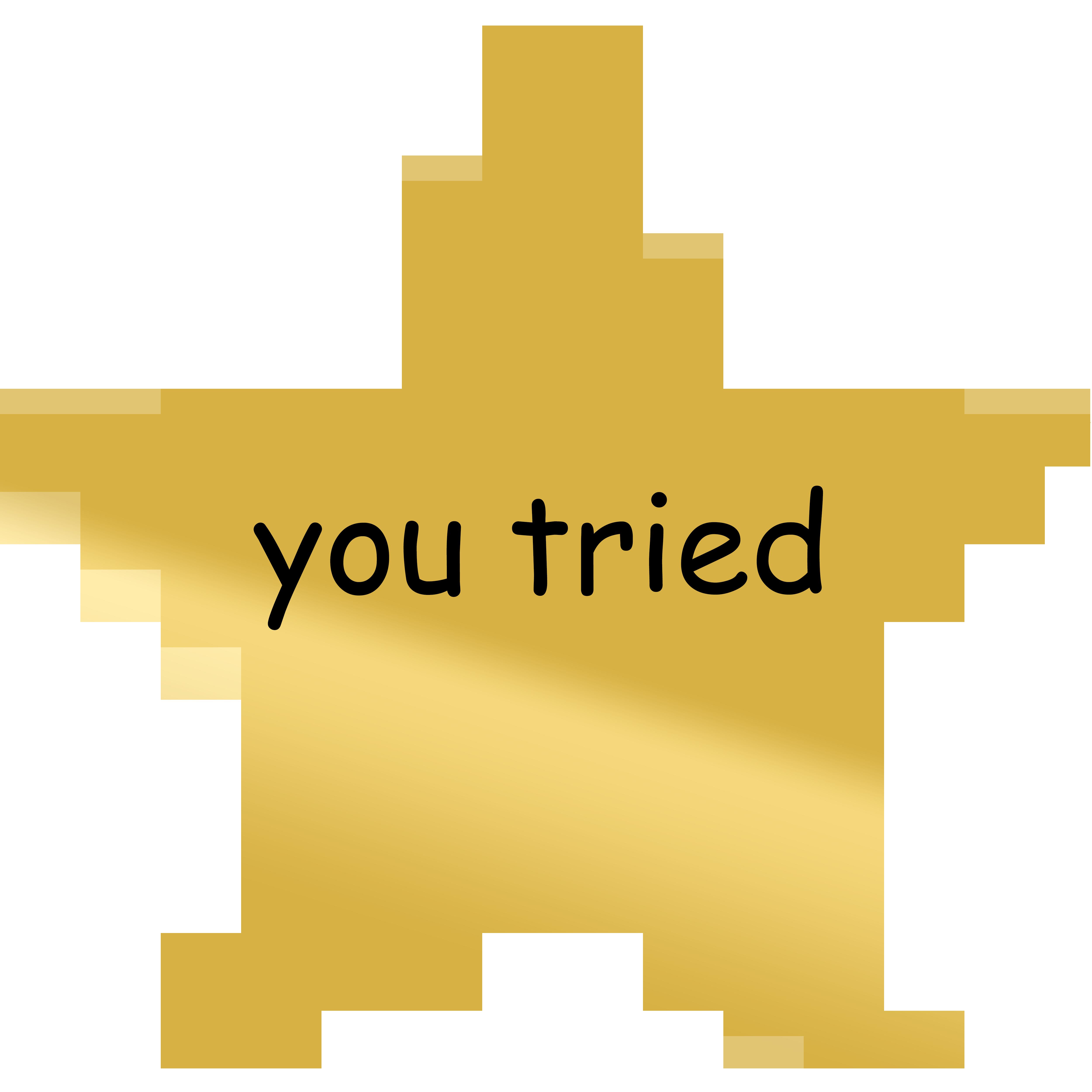 Gold YouTube Sticker.