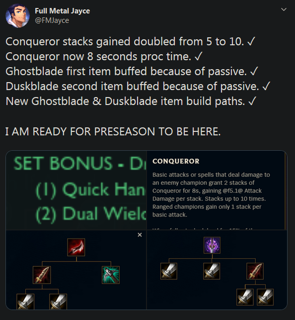 Conqueror, Lethality, And Item Build Path Buffs Coming In.