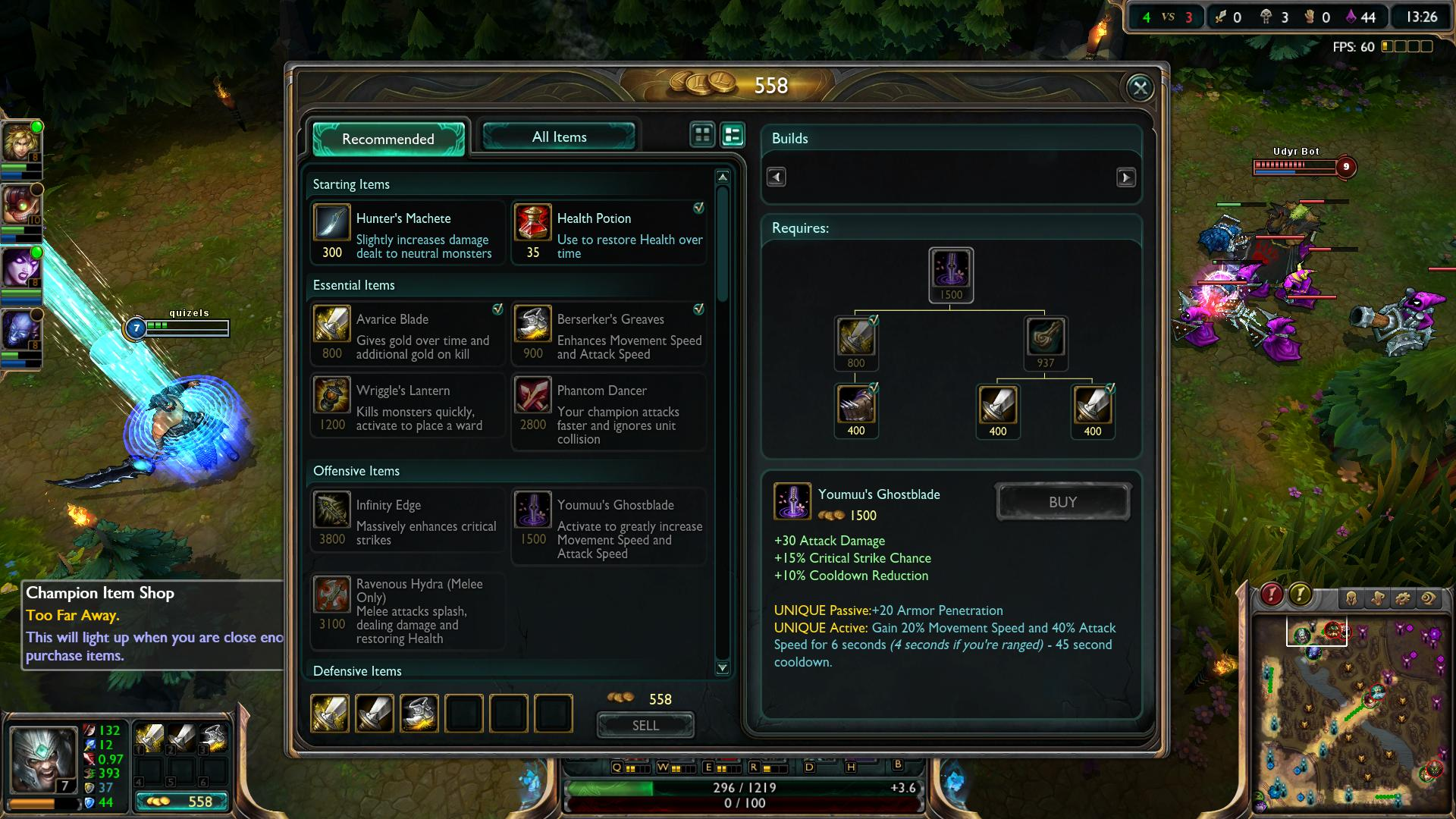 lol Youmuu\'s Ghostblade item lol screenshot.