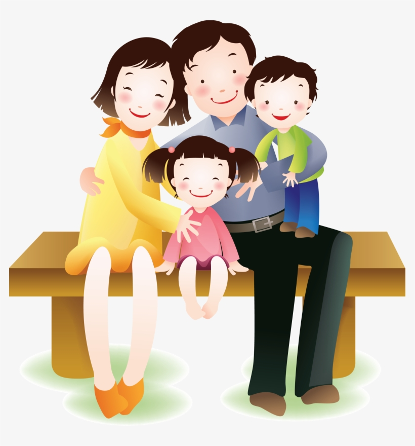 Picture Freeuse Stock Activities Clipart Happy Family.