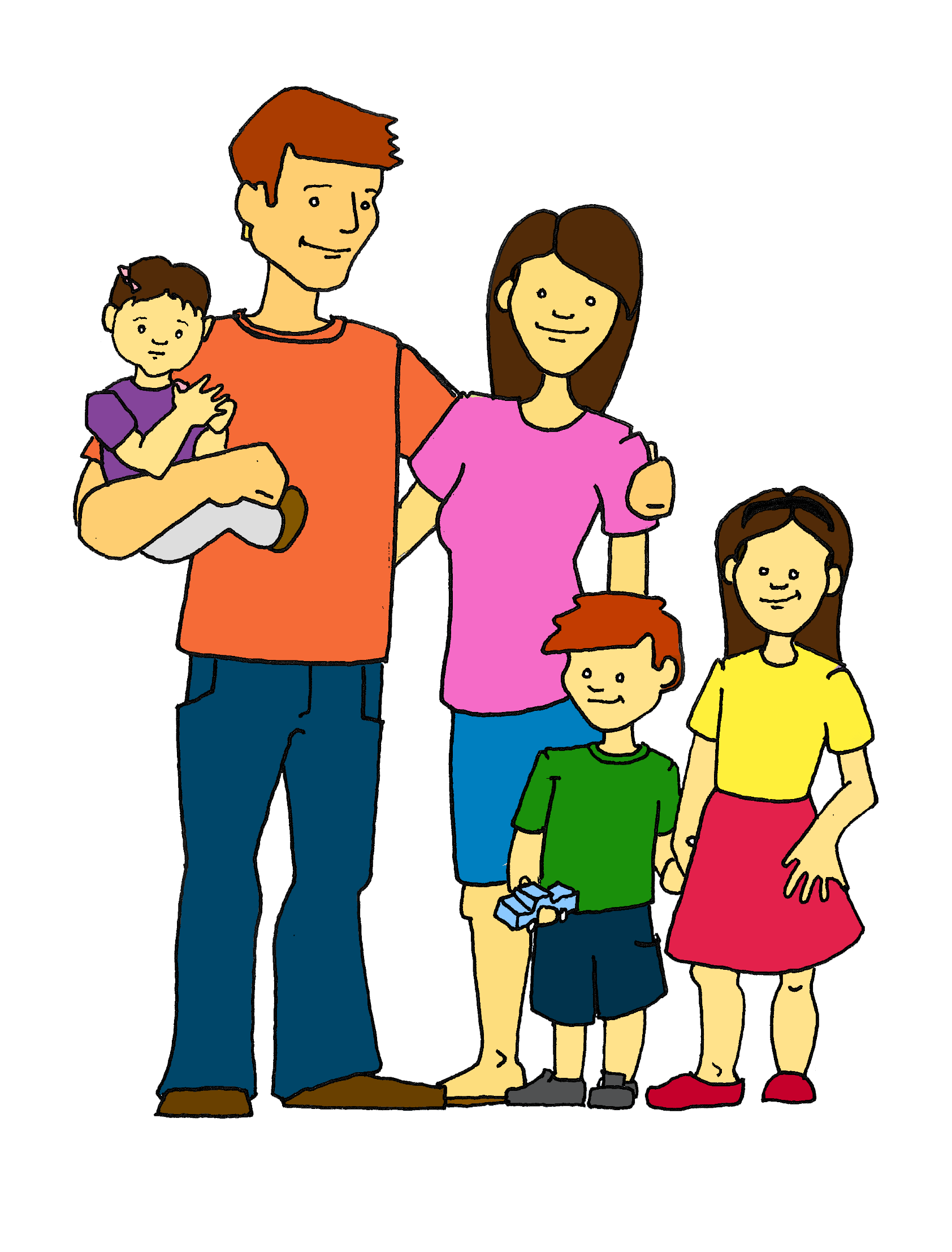 Young clipart family 6, Young family 6 Transparent FREE for.