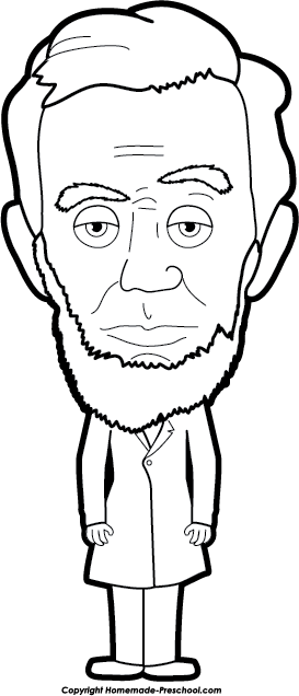 Abraham Lincoln Clipart Black and White.
