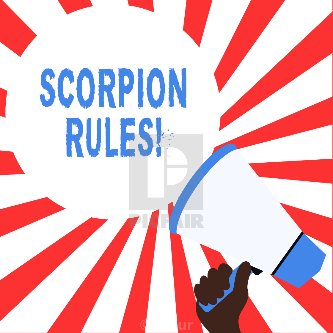 Word writing text Scorpion Rules. Business concept for.