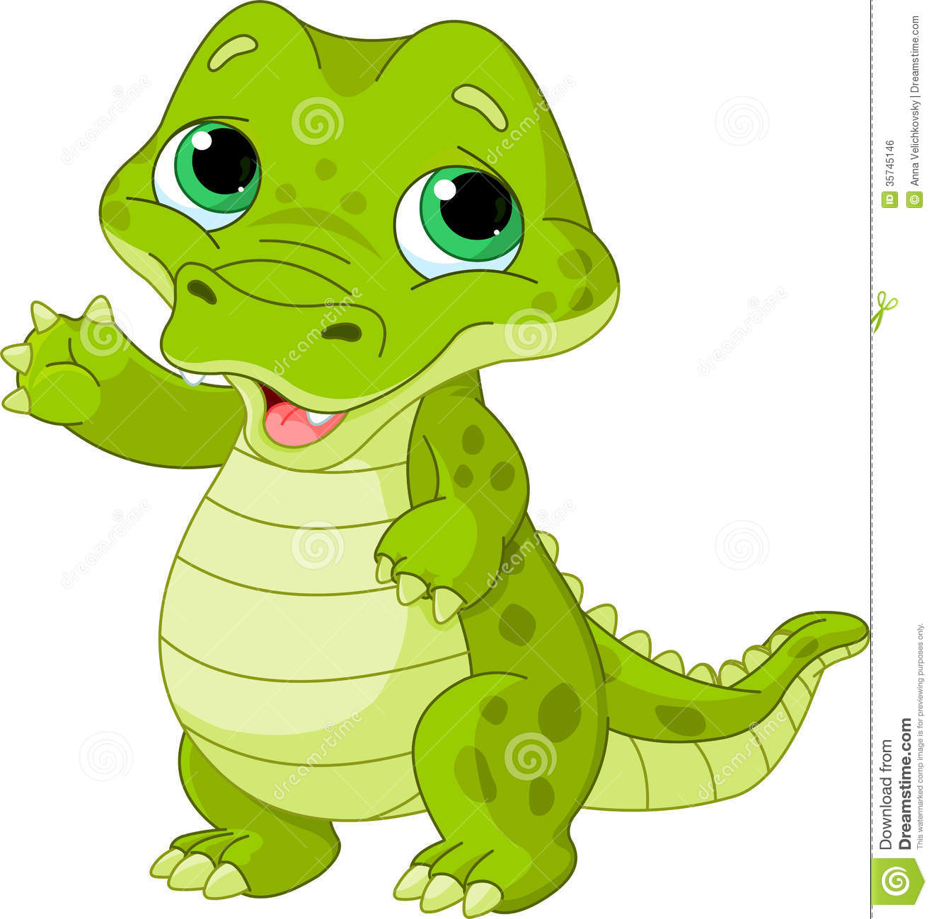 Girl alligator clipart.