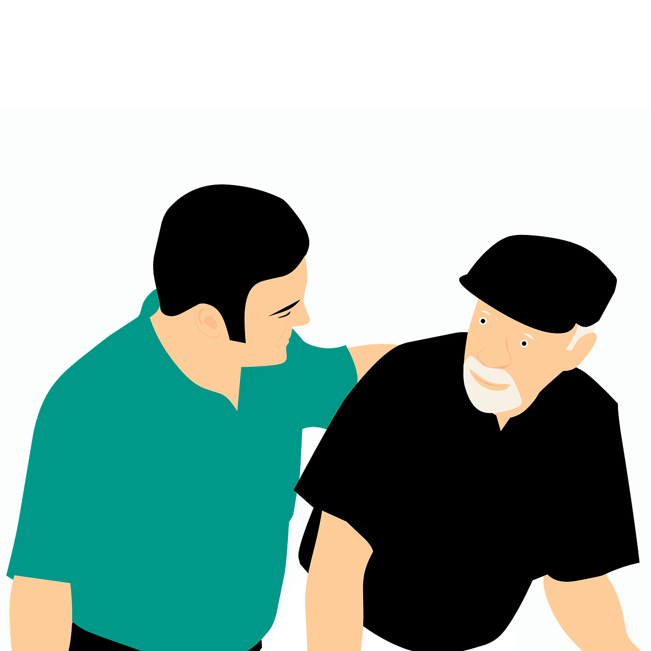 Young man and old man clipart. Free download..
