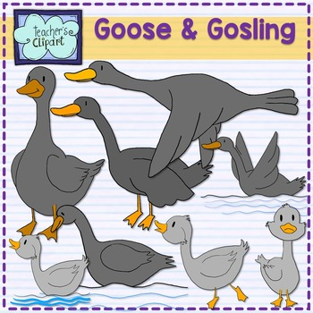Goose and Gosling Clip Art.