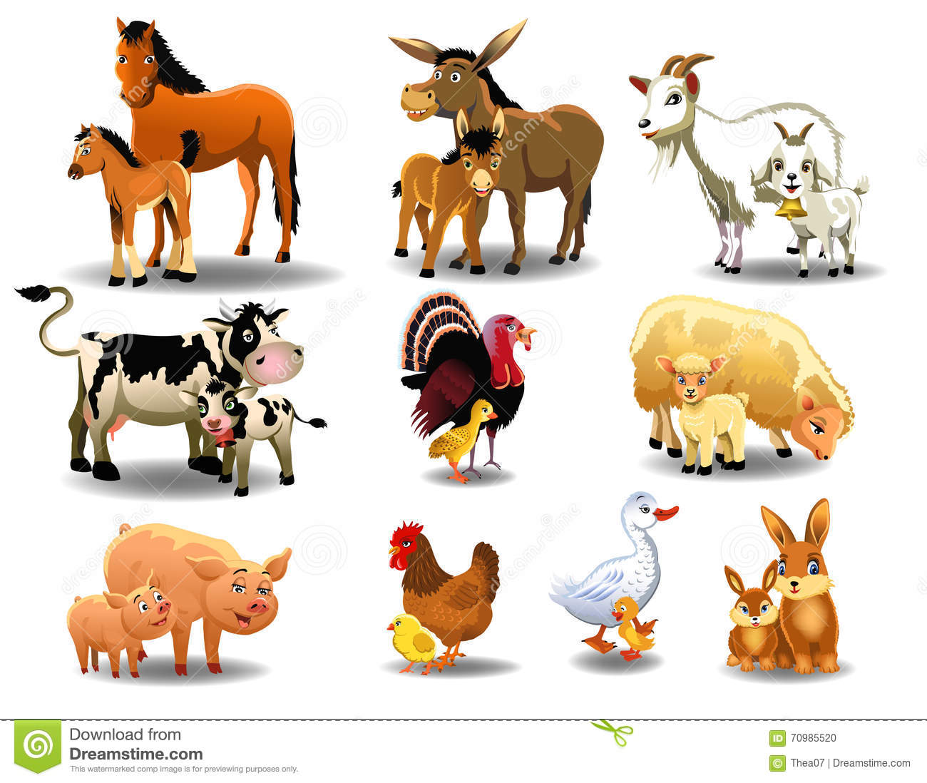 Young Animal Clipart on Illustration Worksheets For Kindergarten