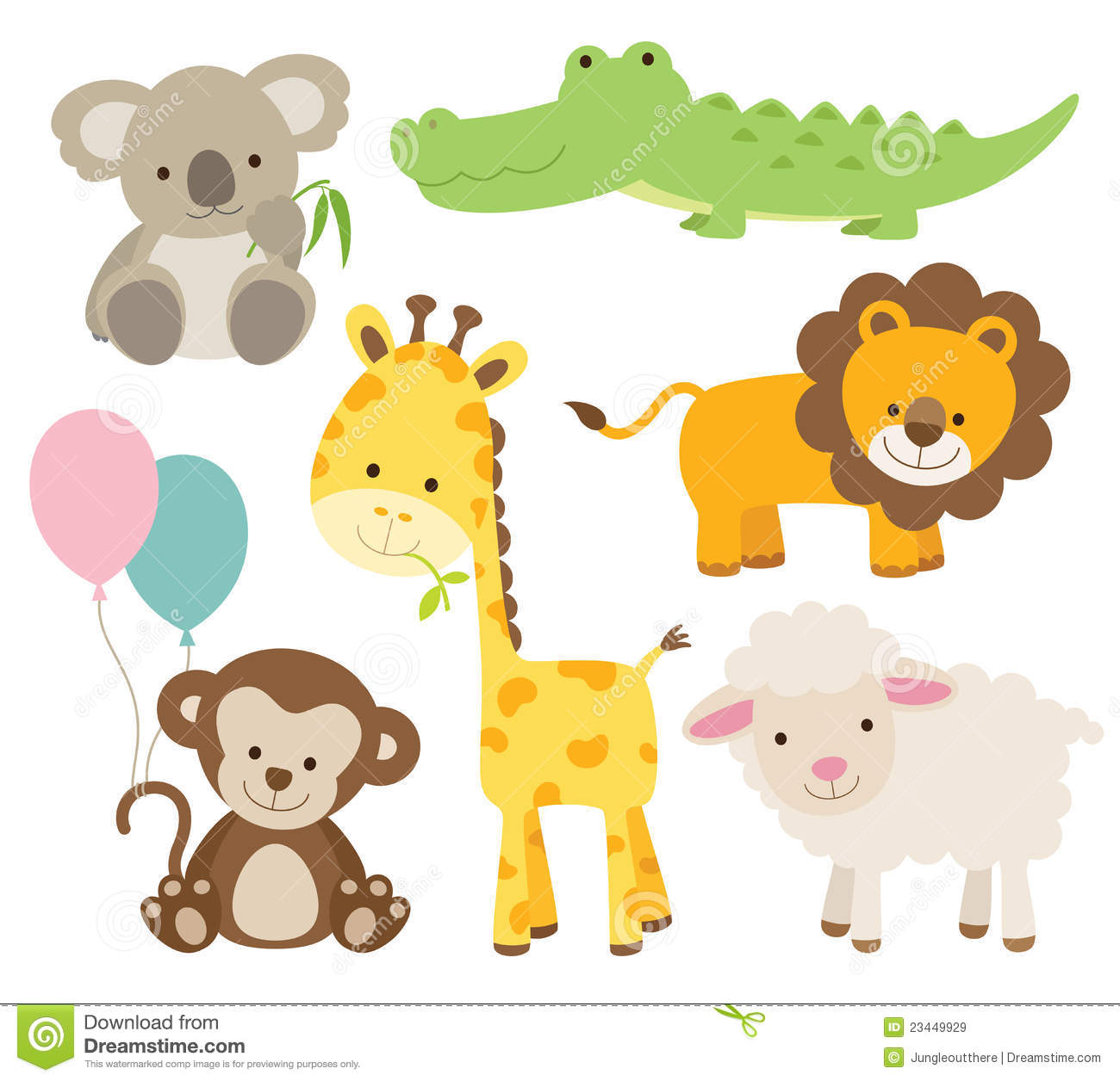 Young Animals Clipart.