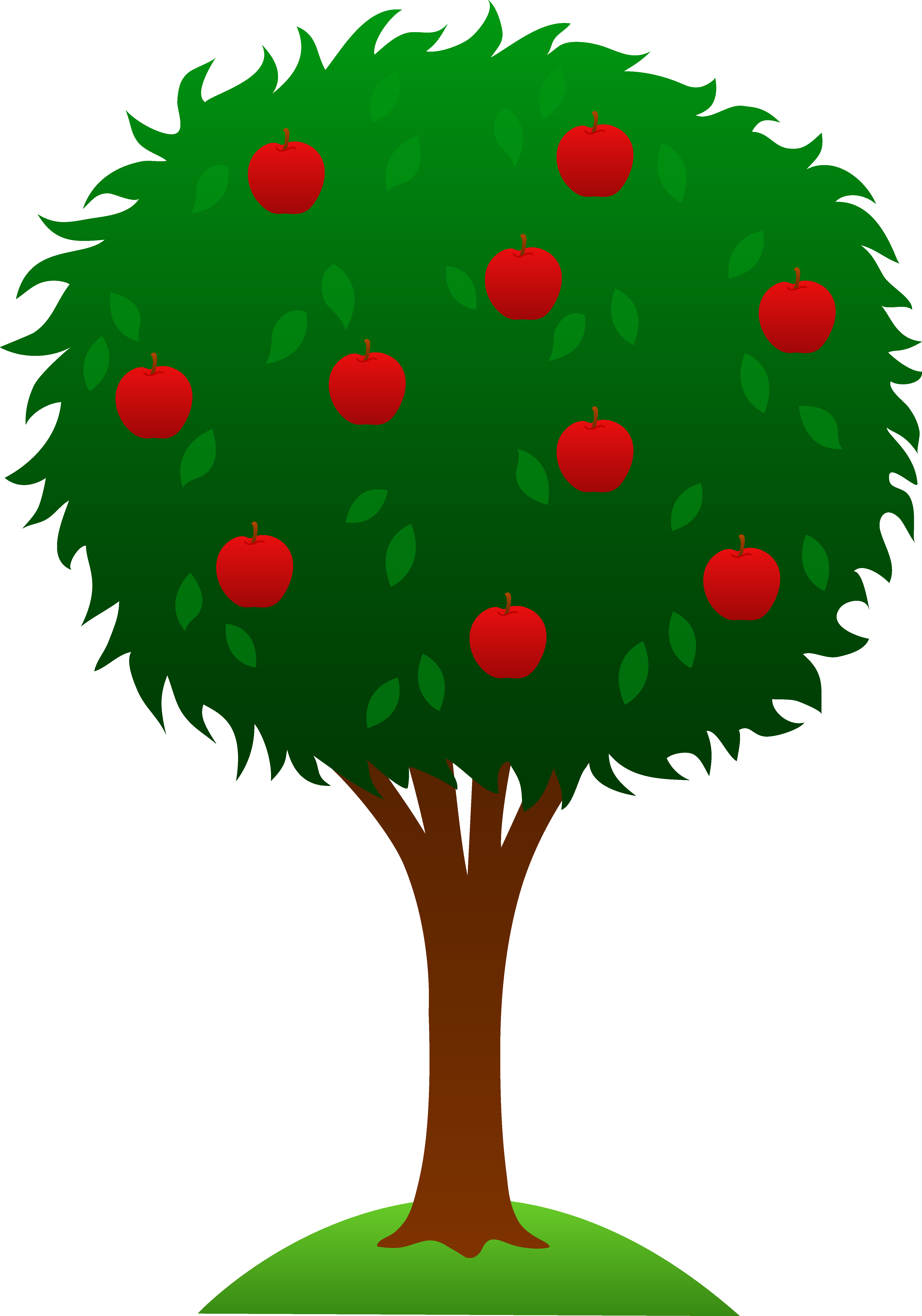 Clipart apple tree falling.