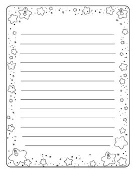 Writing Paper with Star Border.