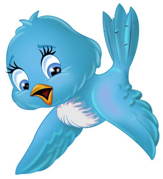 Large Blue Bird PNG Cartoon Clipart.