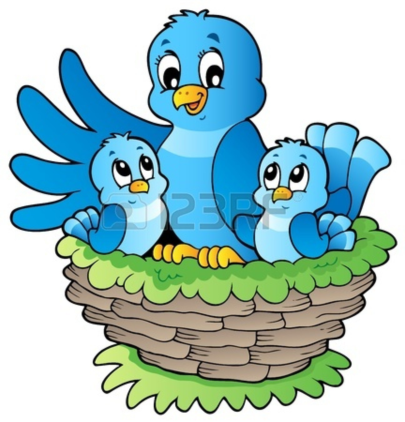 Similiar Cartoon Clip Art Bird Nest Keywords.