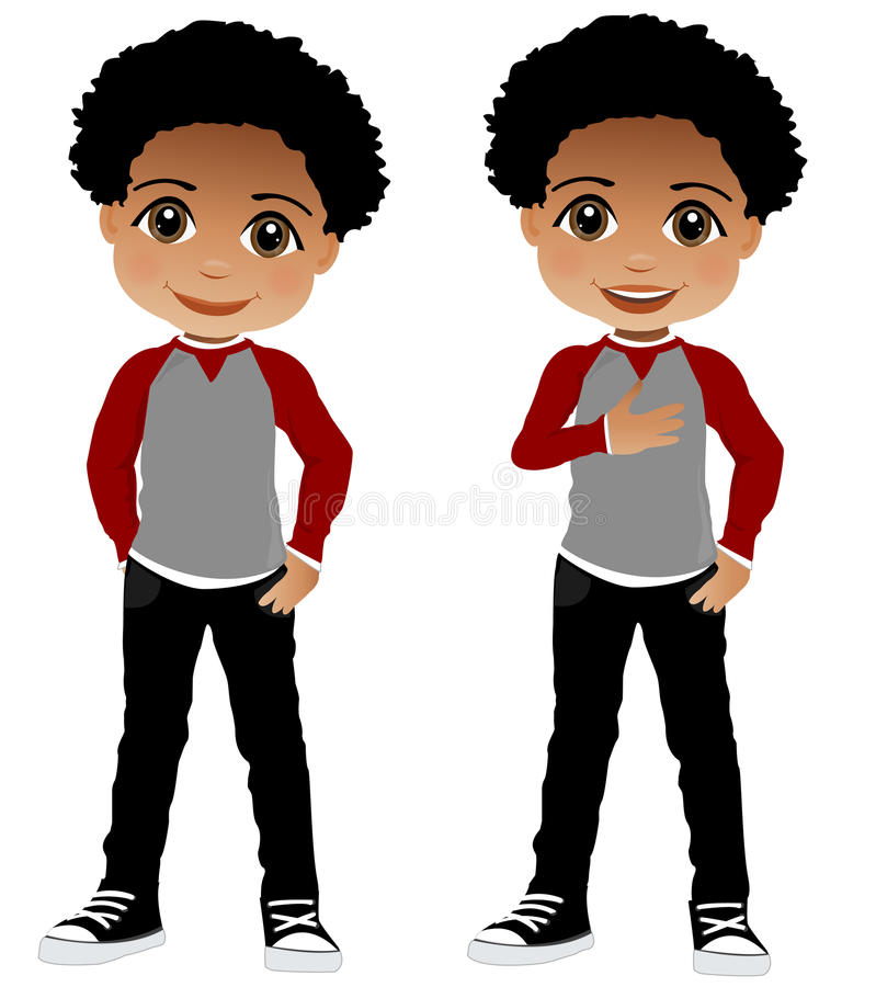 Little Black Boy Clipart.