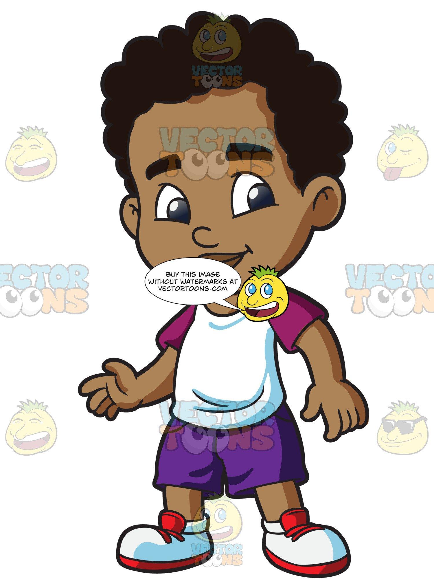 A Black Preschooler Boy Looking Adorable.