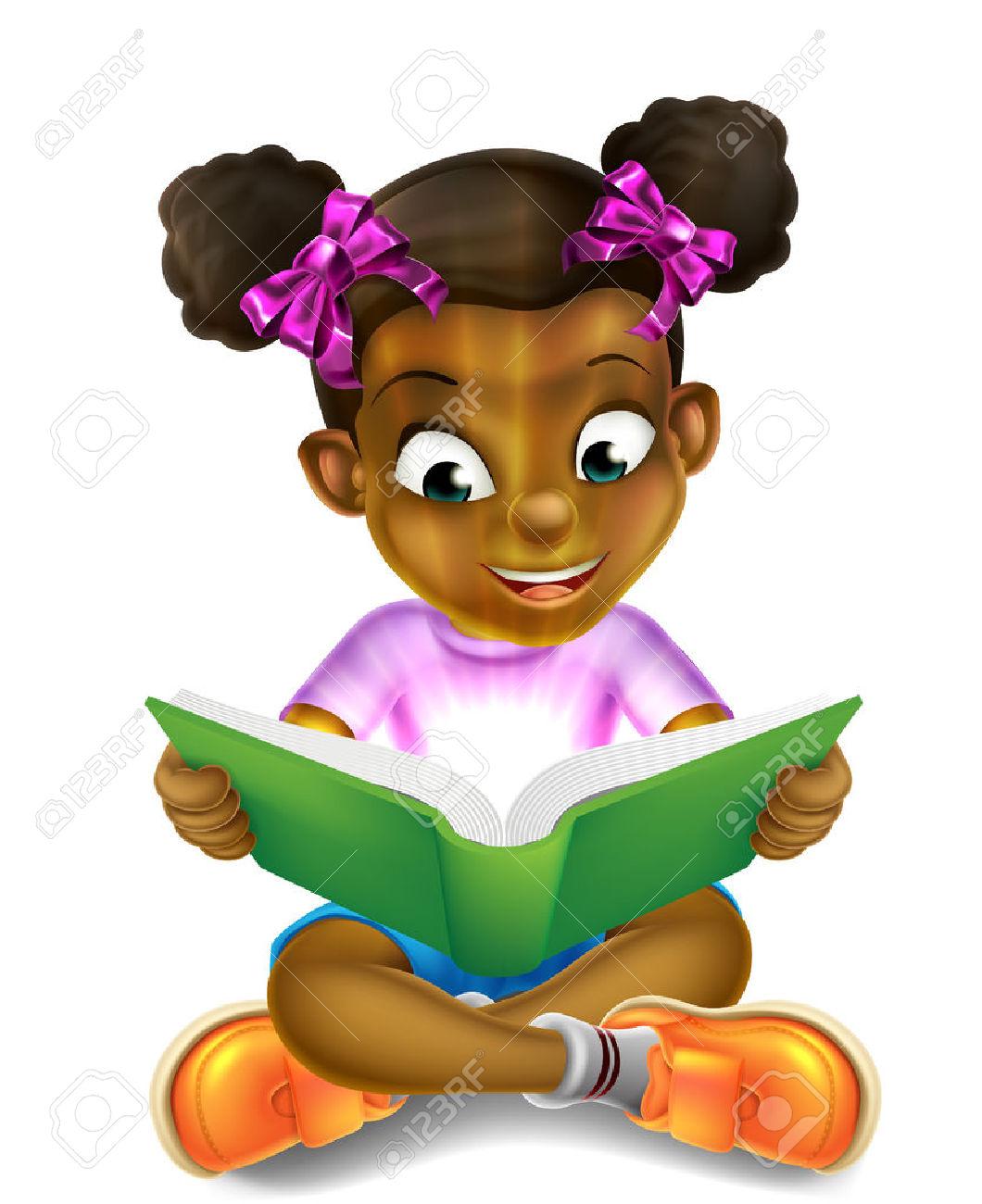 Little Black Girl Clipart.