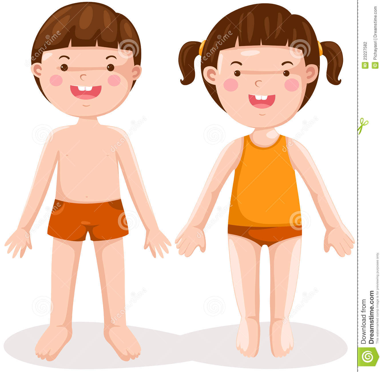 Girl Body Clipart For Kids.