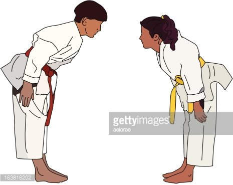 Karate Bow Clipart Image.
