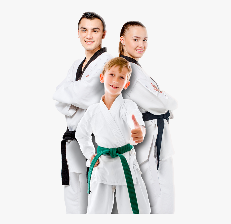 Group Of Martial Arts Students.