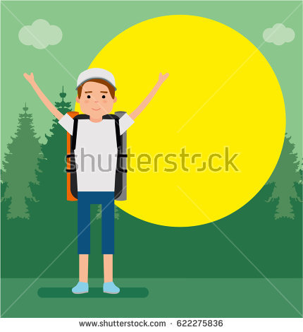 People Walking Forest Stock Vectors, Images & Vector Art.