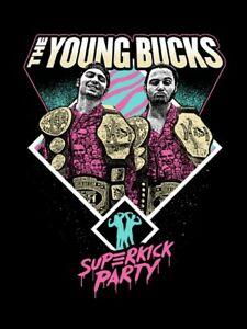 Details about Autographed Young Bucks 18 x 24 Poster, Superkick Belts Elite  NJPW ROH IWGP.