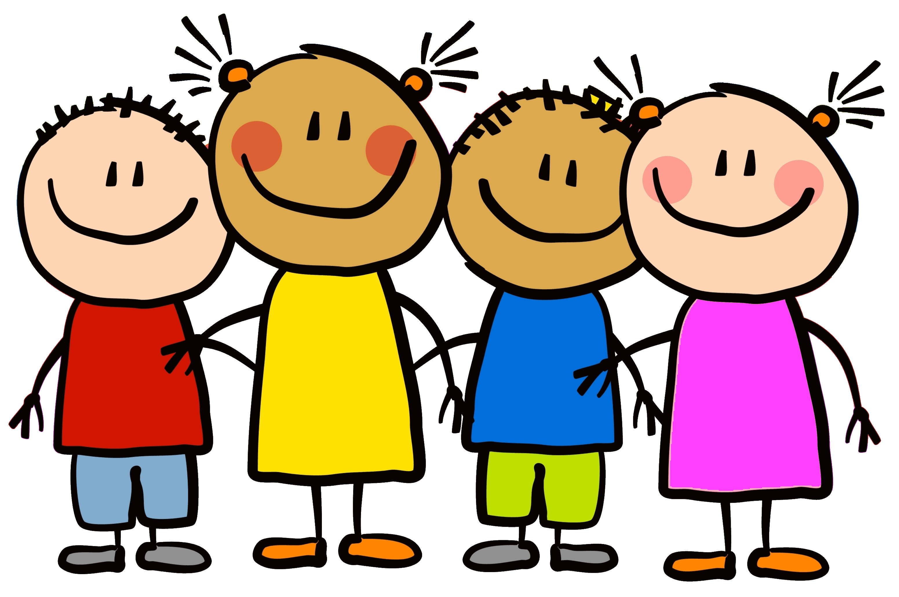 Young children playing clipart.