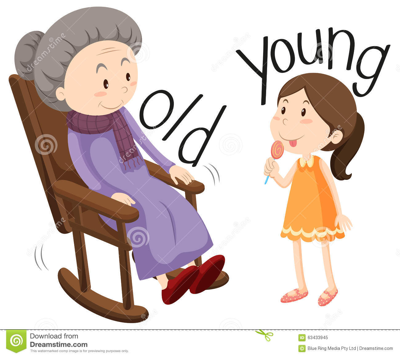Old young clipart.