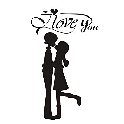 Amazon.com: Lovers Young Couples Kiss Each Other I Love You.