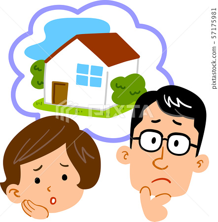 Young couple worried about home.