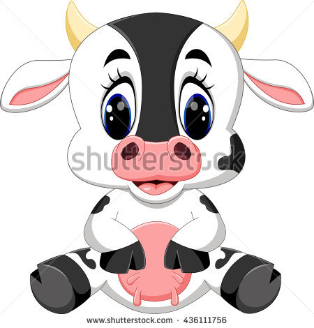 Baby Cow Stock Photos, Royalty.