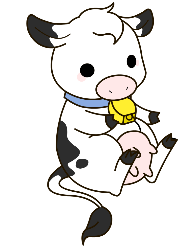 Clipart baby cow.