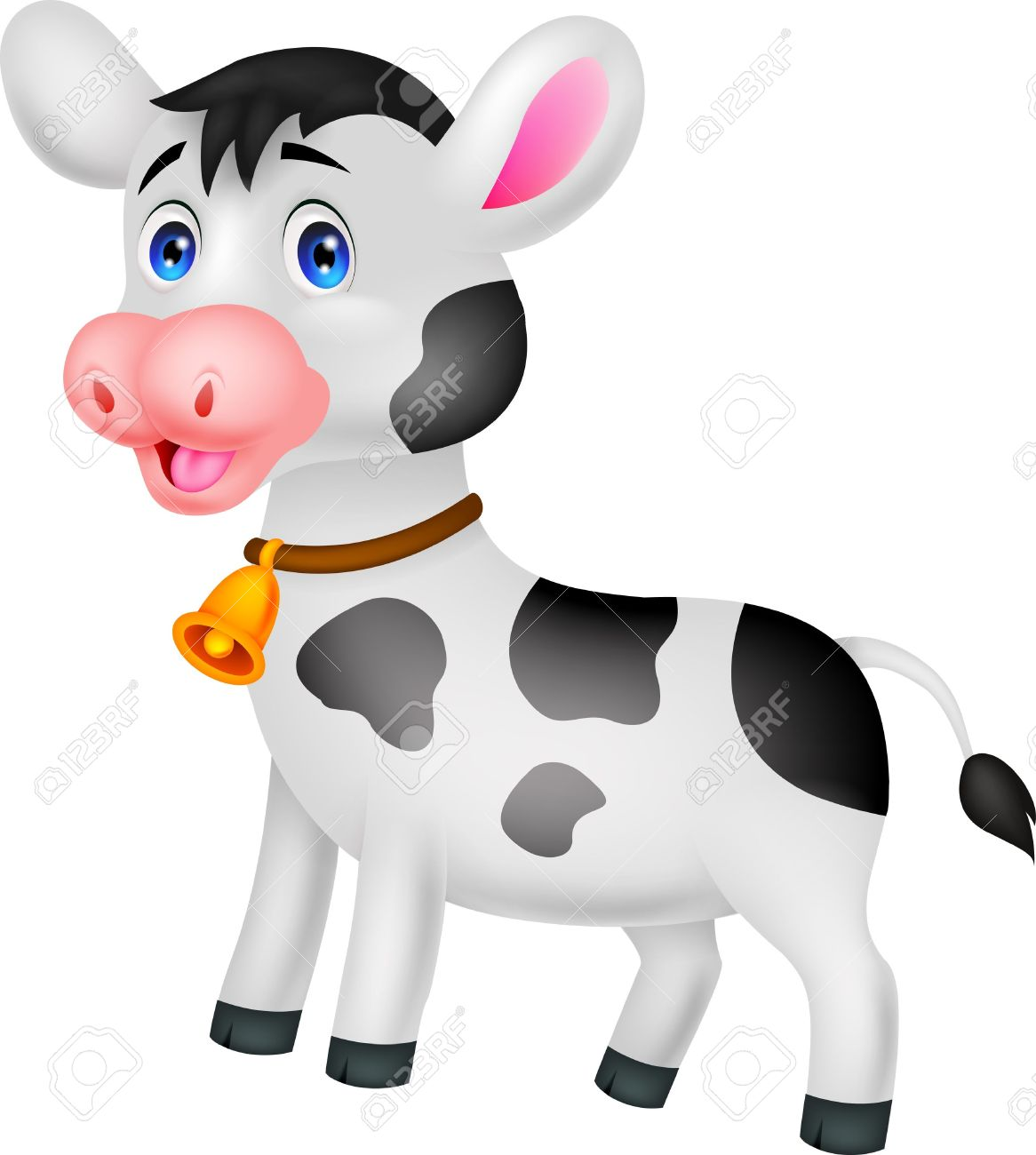 Cute Cow Cartoon Royalty Free Cliparts, Vectors, And Stock.