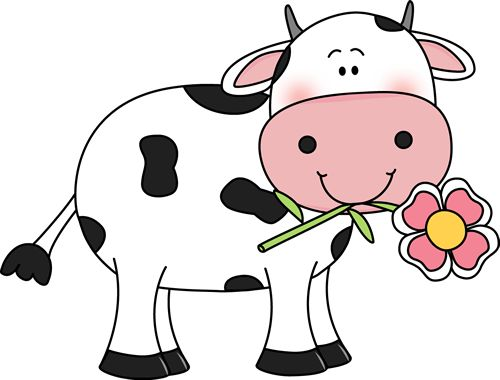 Young cow clipart.