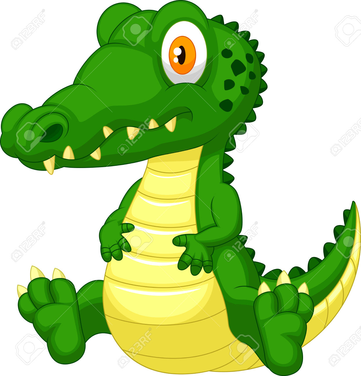 Cute Crocodile Cartoon Royalty Free Cliparts, Vectors, And Stock.