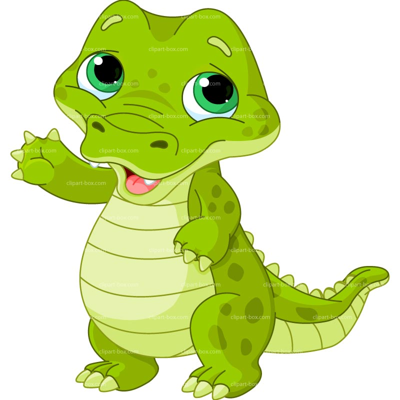CLIPART BABY ALLIGATOR.