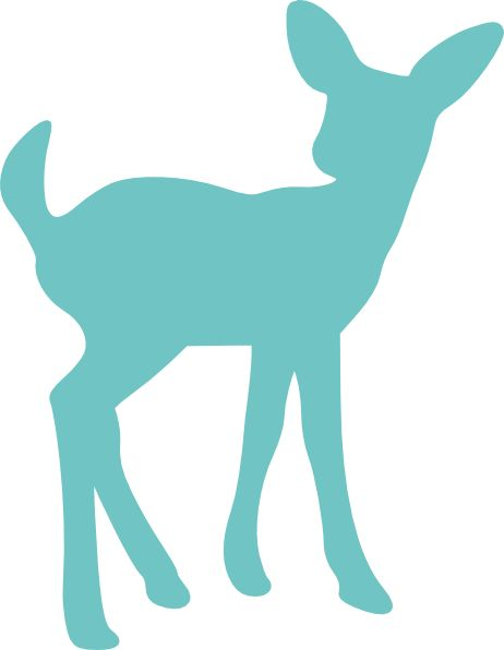 Baby Deer Silhouette Clip Art Clipart.