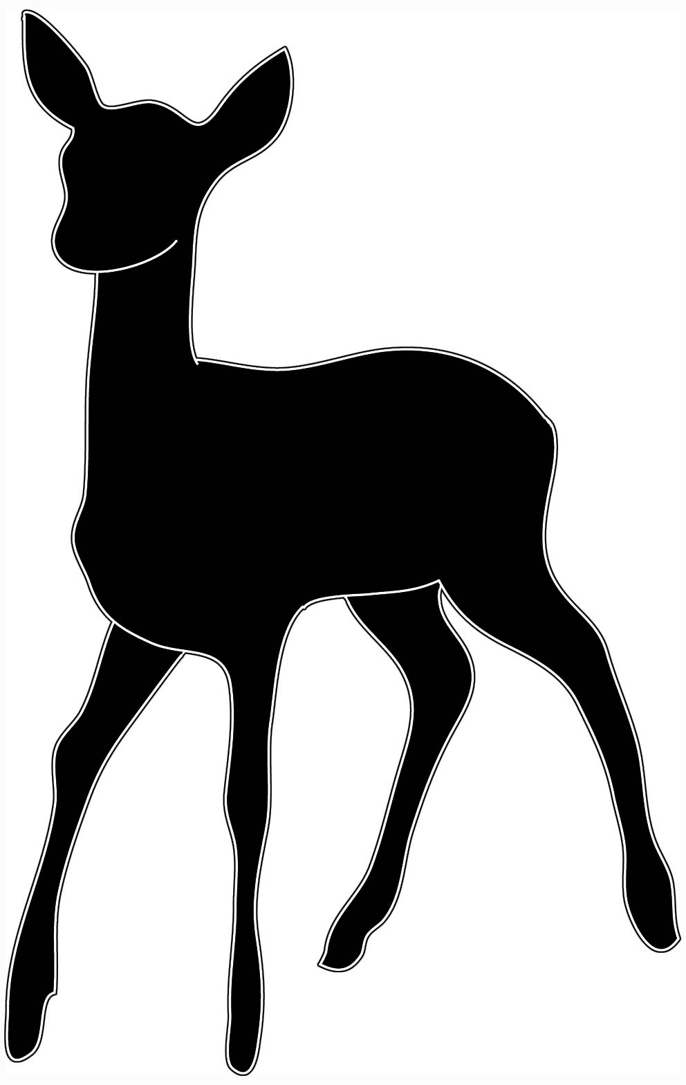 Baby deer silhouette clip art.