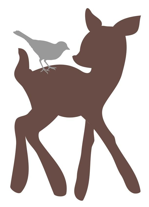 Deer and fawn clipart.