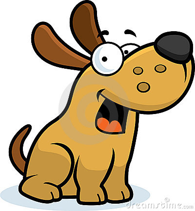 Overweight dog clipart.