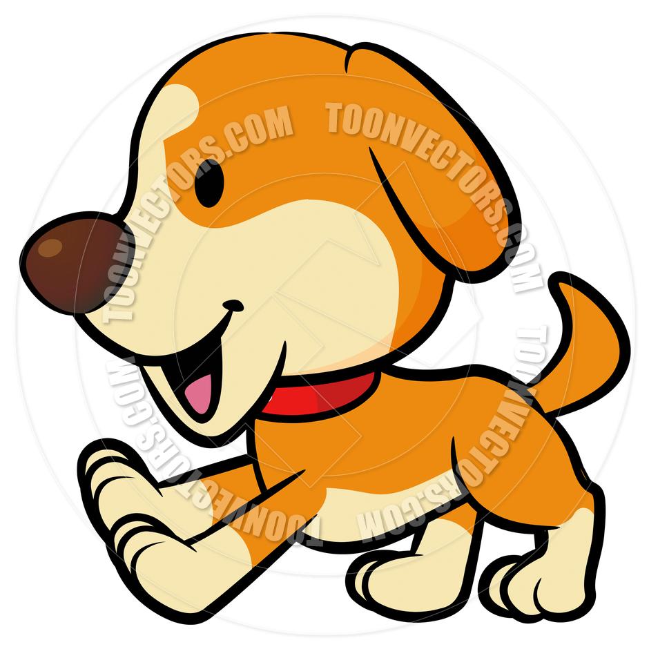Running Puppy Dog Clipart.