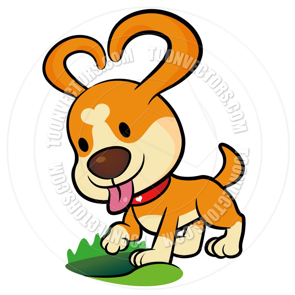 Digging dog clipart.
