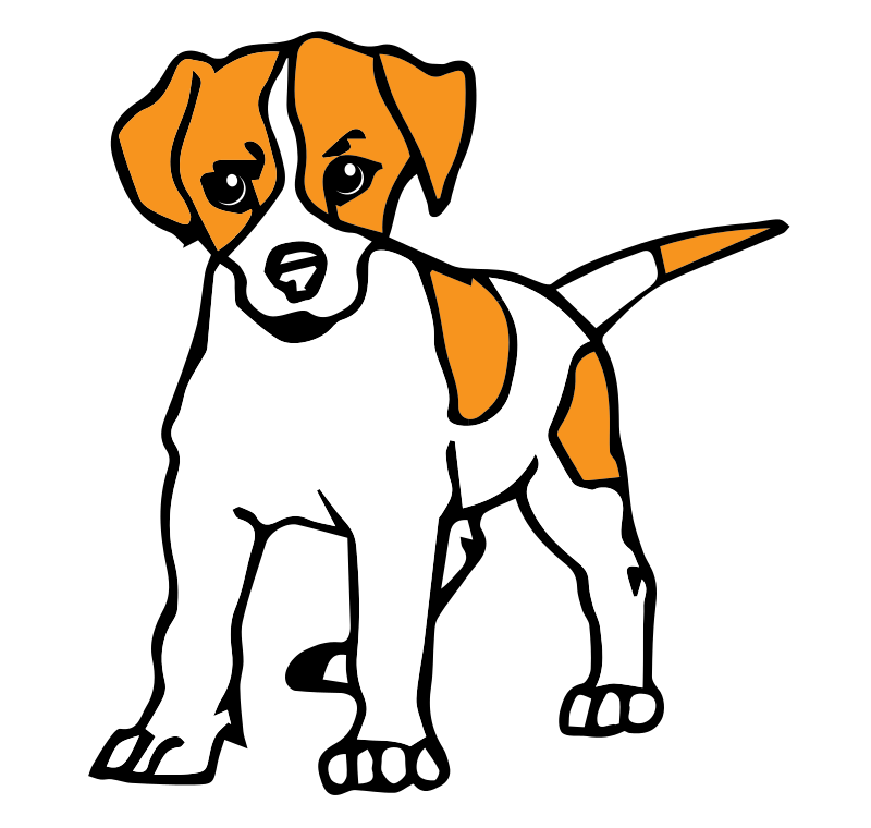Young Boxer Dog Sitting Clipart.