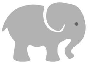 Young elephant clipart #11