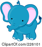 Elephant baby clipart.