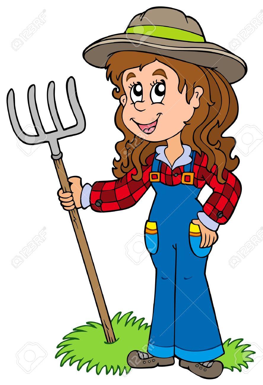 Female Farmer Clipart.