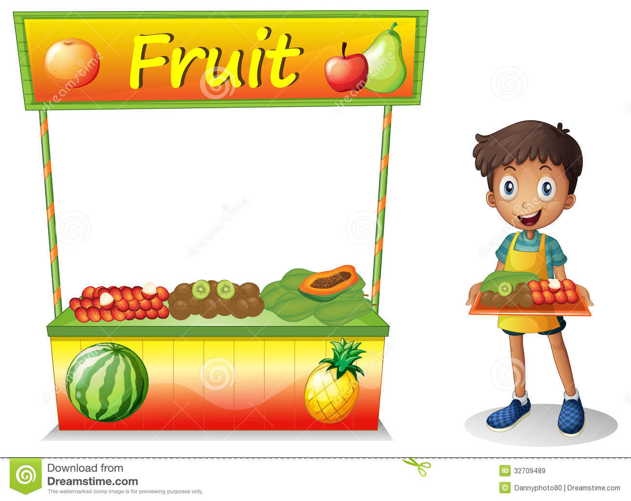 Fruit stall clipart.