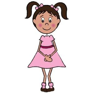 Little girls clipart #15