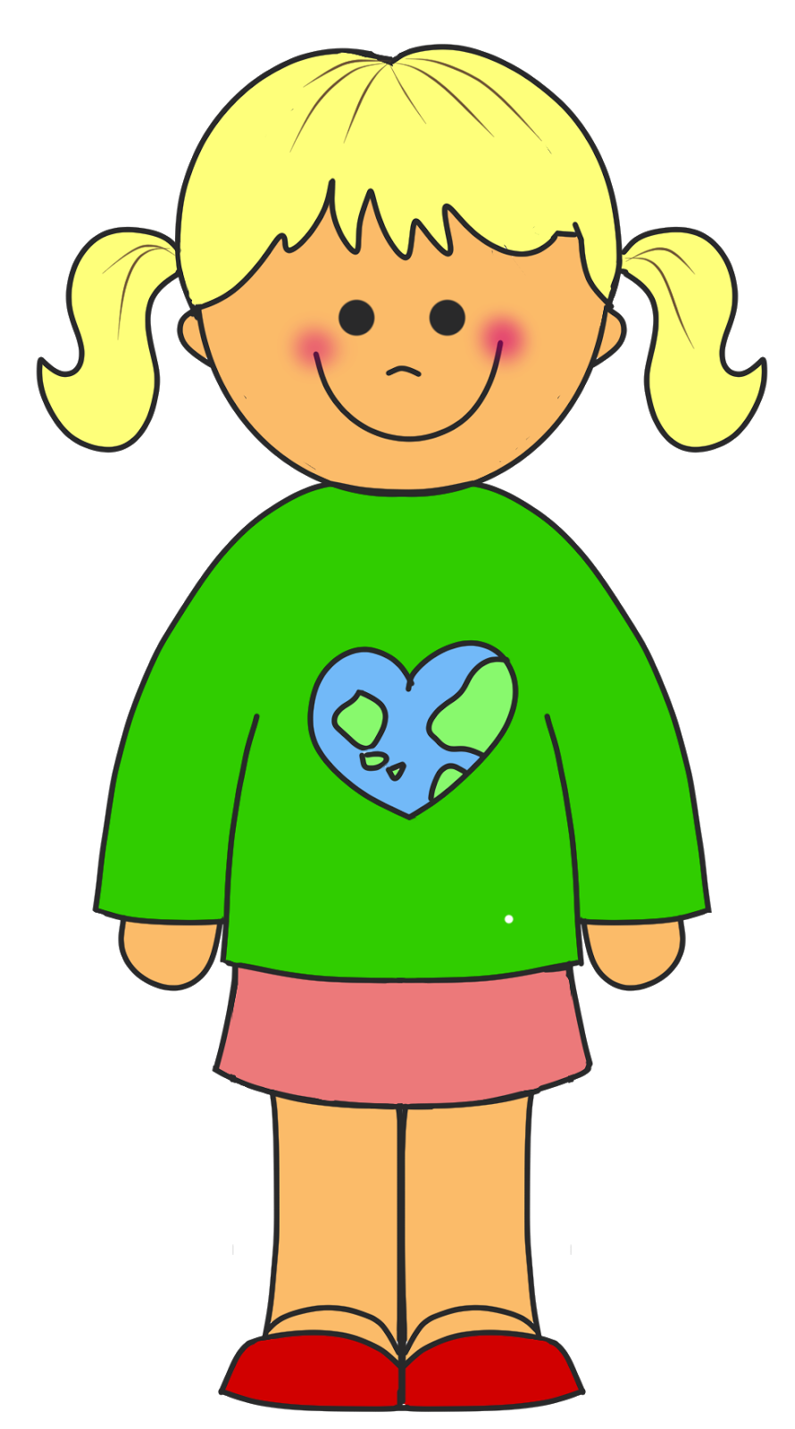 Young Girl Clipart.