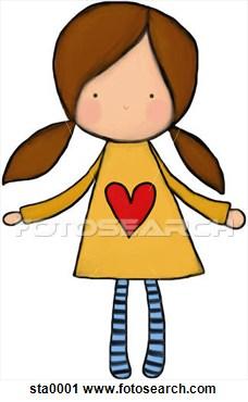 Clip Art Little Girl Clipart.