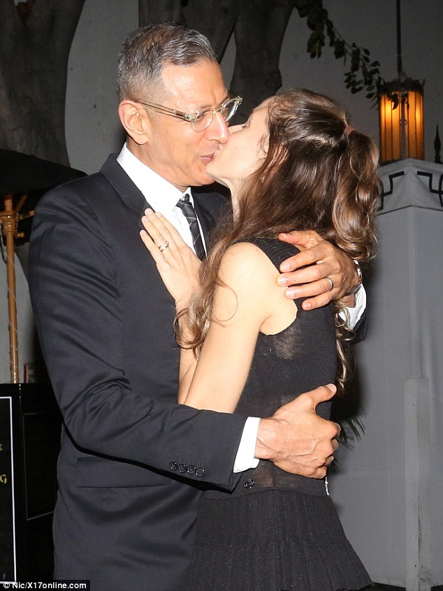 Old Girl Man Kissing